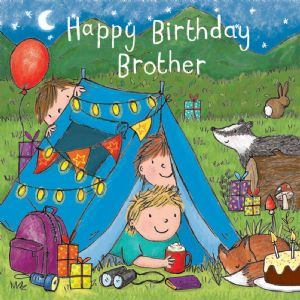 TW729 – Brother Birthday Card Camping